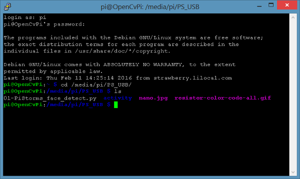 RPi USB file