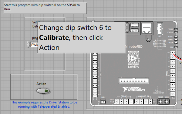 SD540B calibration prompt' 1