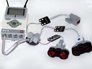 4 port sockets extender for NXT//EV3 motors or sensors