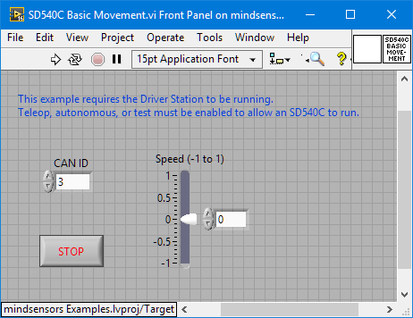 How To Use Sd540c And Canlight With Labview